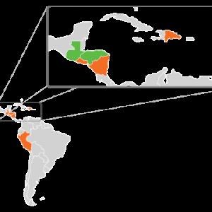 Mapa Centro America Zika